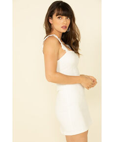Show Me Your Mumu Women's Ruthie Ruffle Dress , White, hi-res