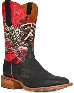 Cinch Edge Men's Race Ready Square Toe Western Boots, Brown, hi-res