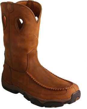 Twisted X Men's Distressed Saddle Hiker Boots, Brown, hi-res
