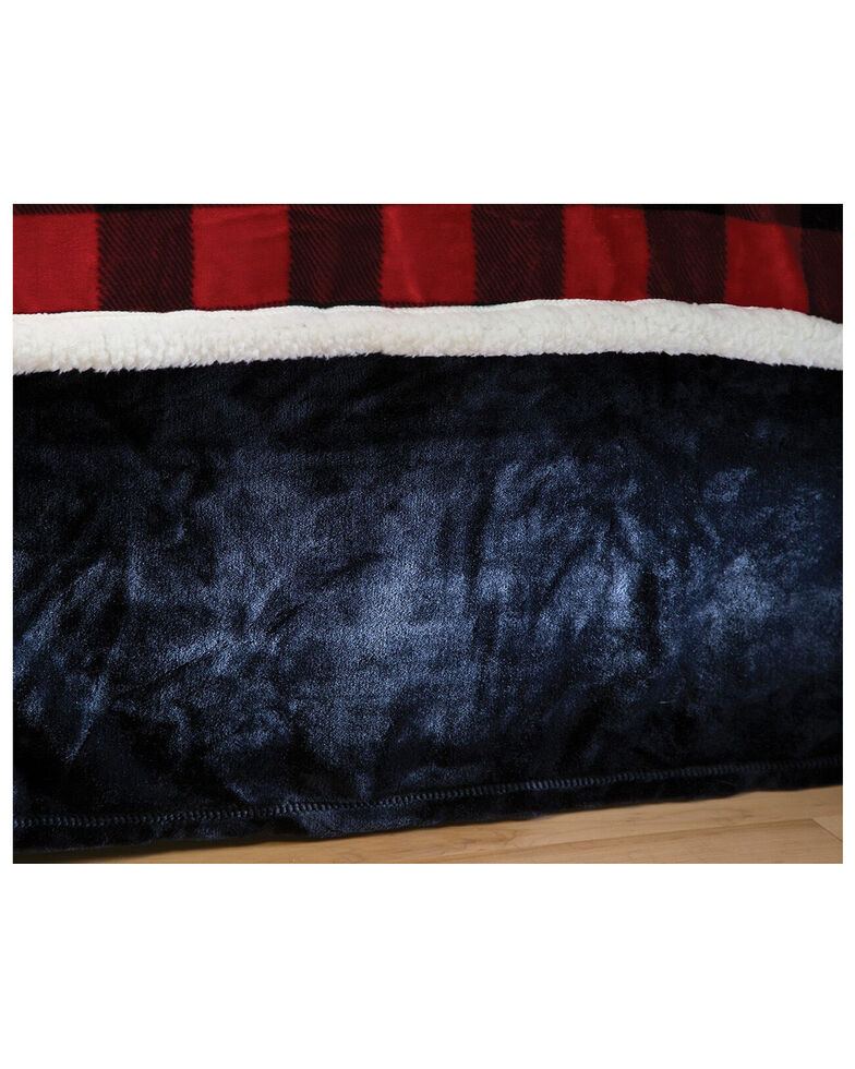 Carstens Home Solid Black Plush Velvet Bed Skirt - Queen, Black, hi-res