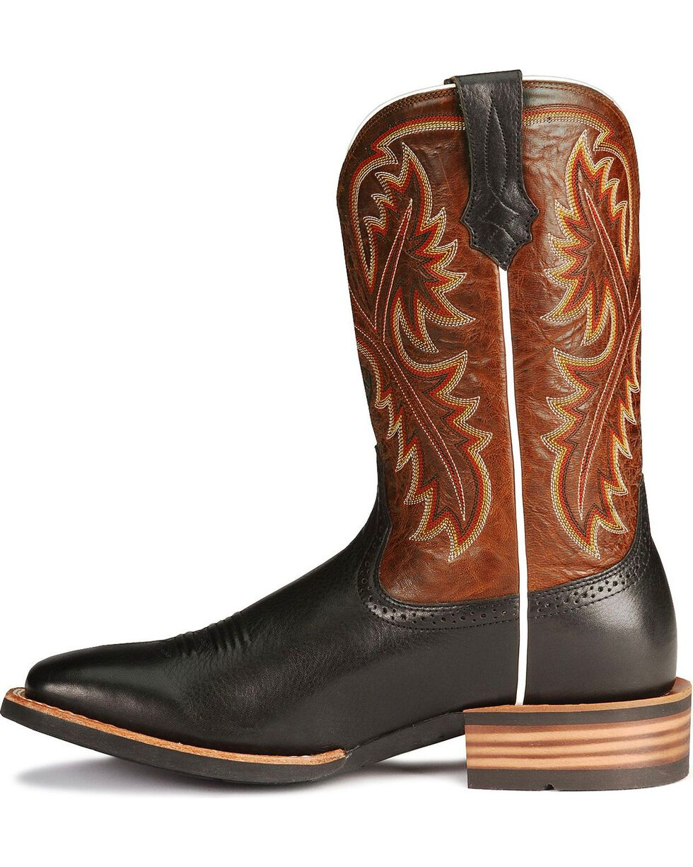 Ariat Men's Quickdraw Western Boots, Black, hi-res