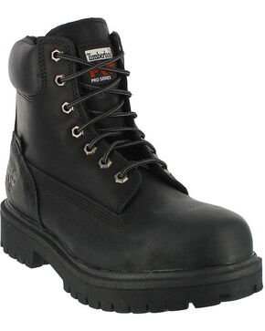 "Timberland Pro Men's 6"" Insulated Waterproof Steel Toe Work Boots, Black, hi-res"
