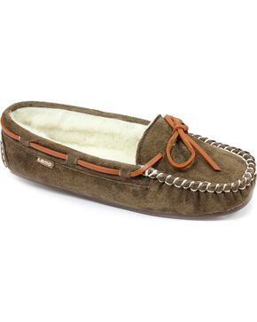 Lamo Footwear Women's Britain Moccasins, Chocolate, hi-res