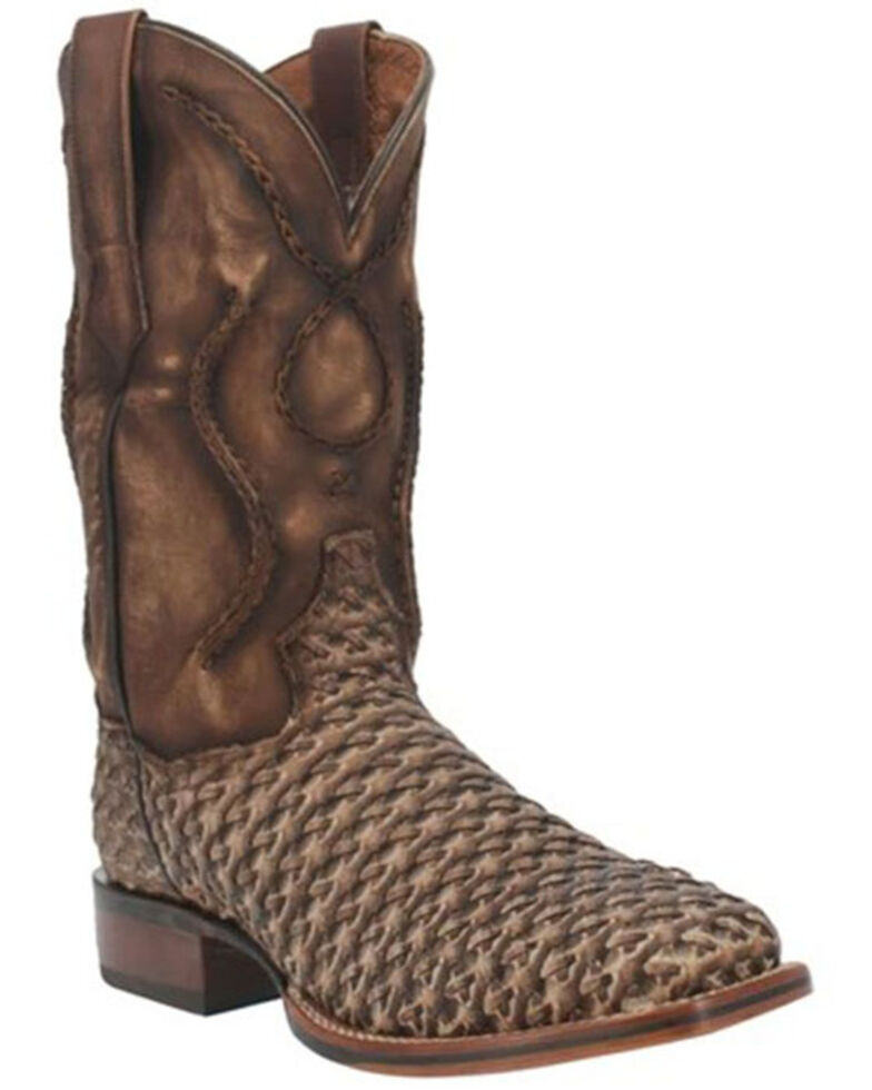 Dan Post Men's Stanley Western Boots - Wide Square toe, Brown, hi-res