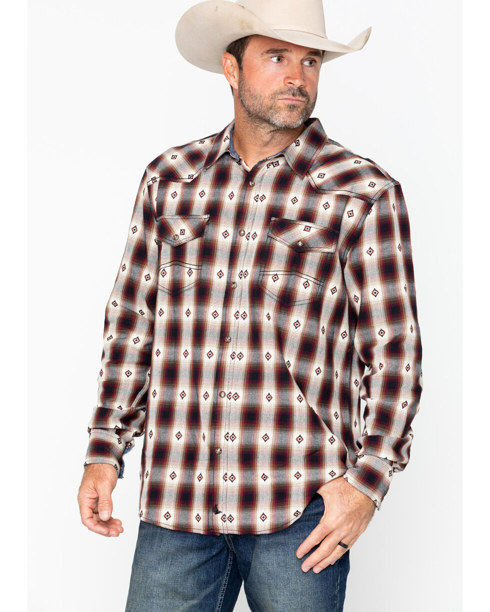 Cody James Men's Fort Yukon Long Sleeve Western Shirt - Big & Tall, Blue, hi-res