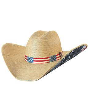 Bullhide Women's Truly American Straw Hat, Natural, hi-res