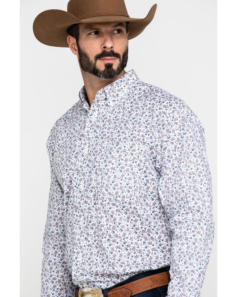 Ariat Men's Lafayette Floral Geo Print Long Sleeve Western Shirt , White, hi-res
