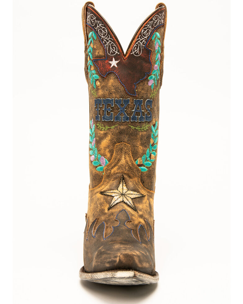 Dan Post Women's Cowboy Texas Western Boots - Snip Toe, Chocolate, hi-res