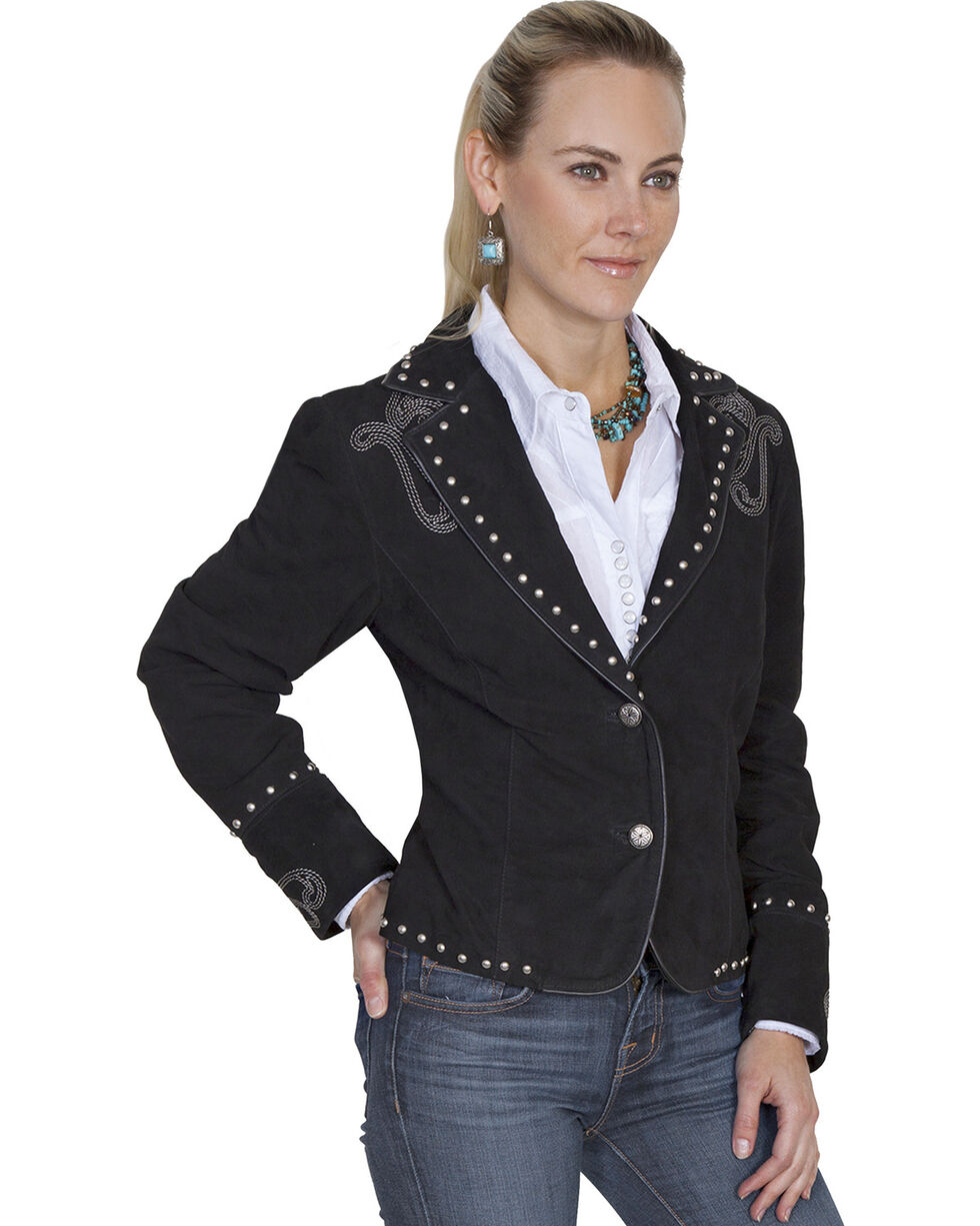 Scully Women's Bootstitch Boar Suede Jacket, , hi-res