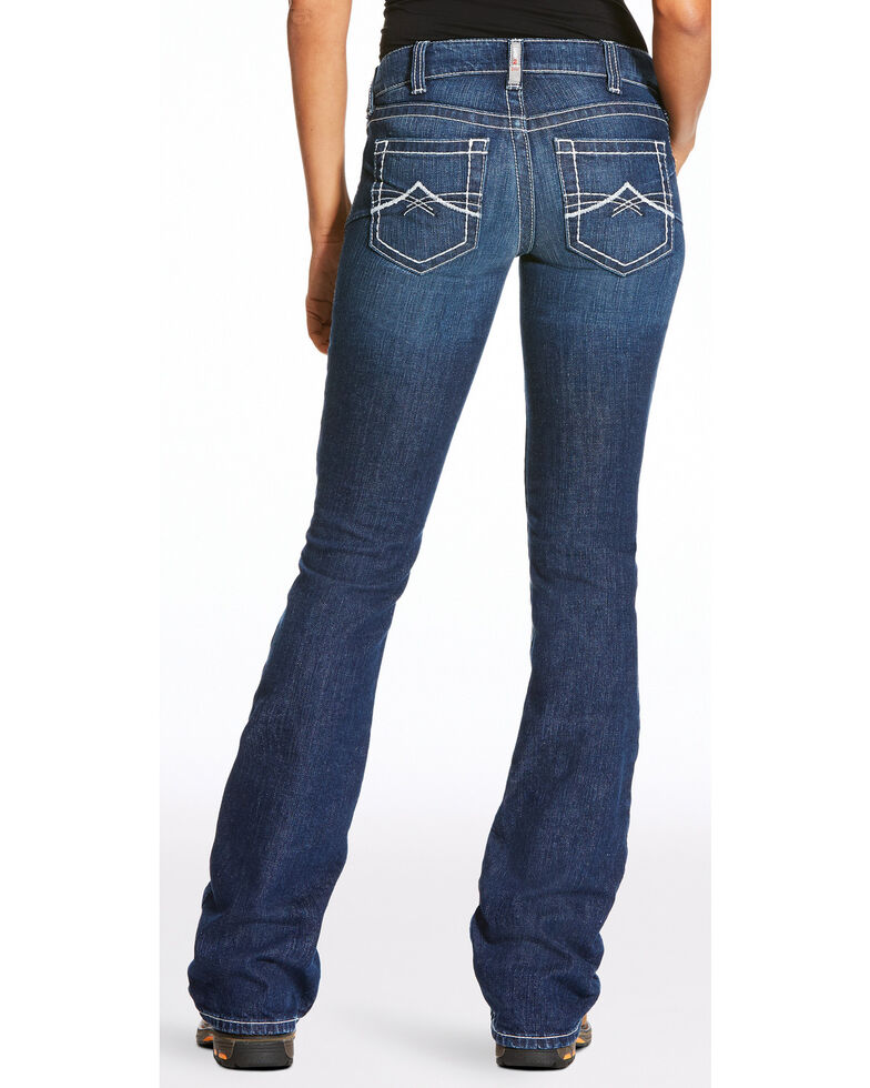 Ariat Women's FR Crossing Volta 2 Bootcut Jeans , Dark Blue, hi-res