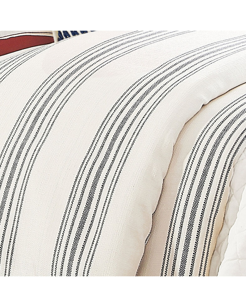 HiEnd Accents Prescott Navy Stripe Duvet - Super King, Navy, hi-res