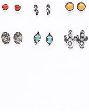 Shyanne Women's Isla Jane Multi-Color 6 Pack Earring Set, Multi, hi-res