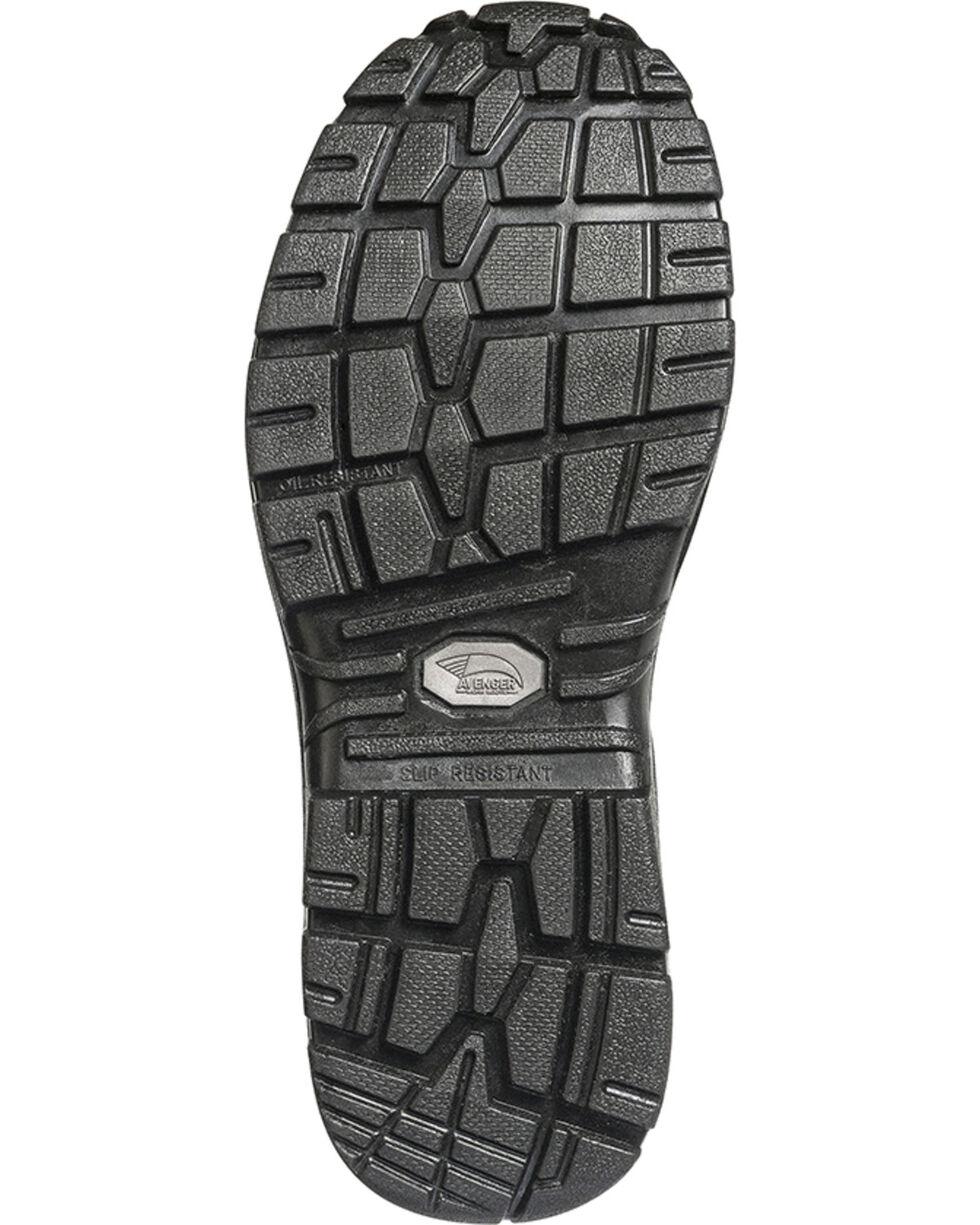 Avenger Men's Lace Up Steel Toe Work Boots, Black, hi-res