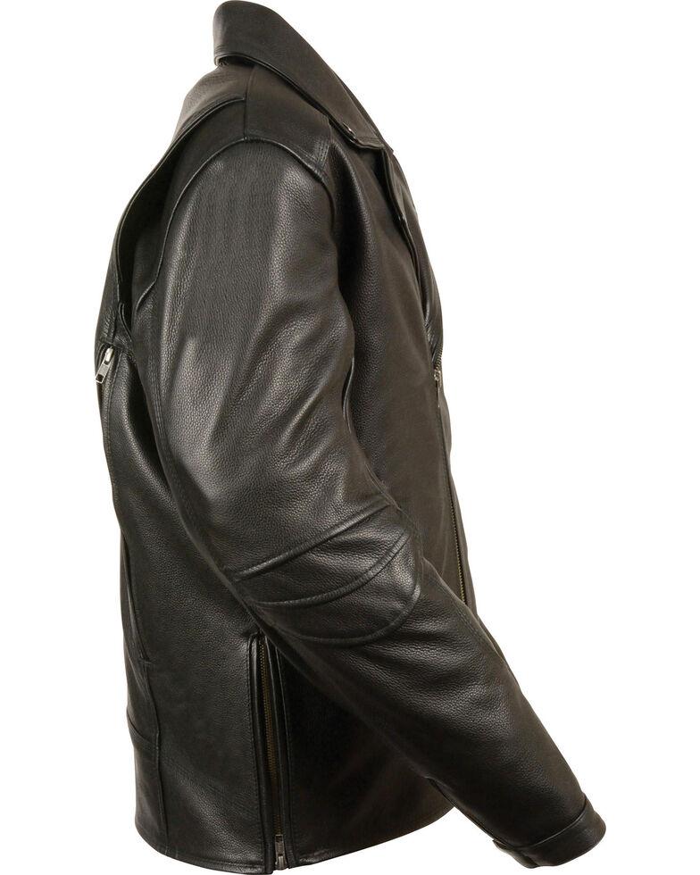 Milwaukee Leather Men's Triple Stitch Extra Long Biker Jacket - 3X , , hi-res