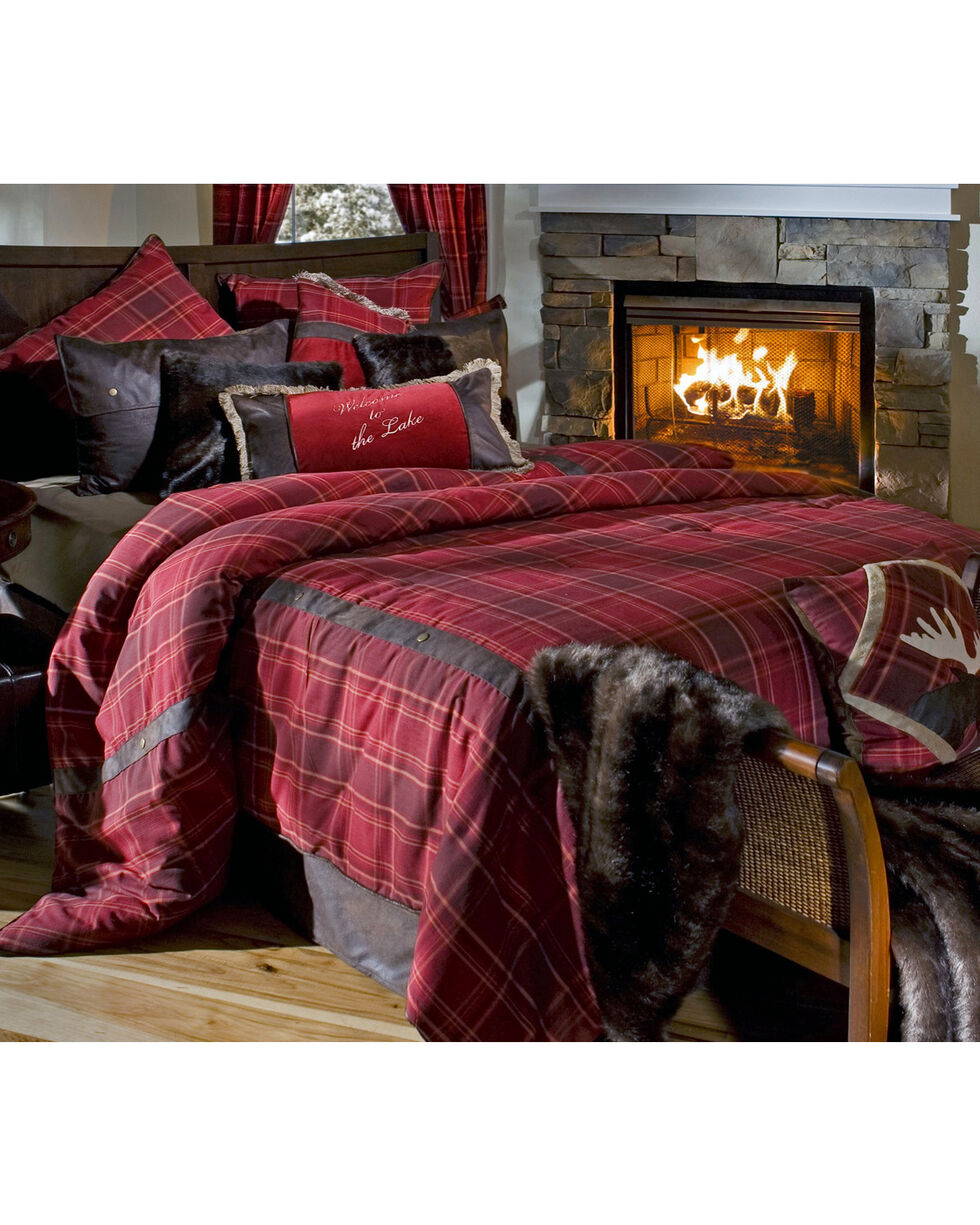 Carstens Sagamore Lake Placid Queen Bedding - 5 Piece Set, Red, hi-res