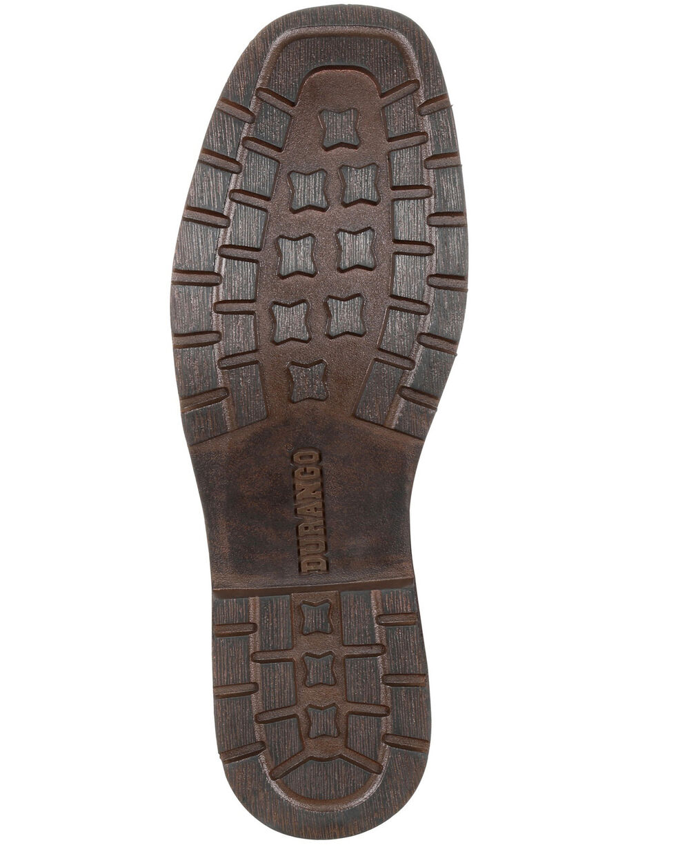 Durango Men's Drifter Side-Zip Boots - Round Toe, Dark Brown, hi-res