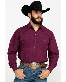 Ely Cattleman Men's Assorted Multi Mini Check Plaid Long Sleeve Western Shirt , Multi, hi-res