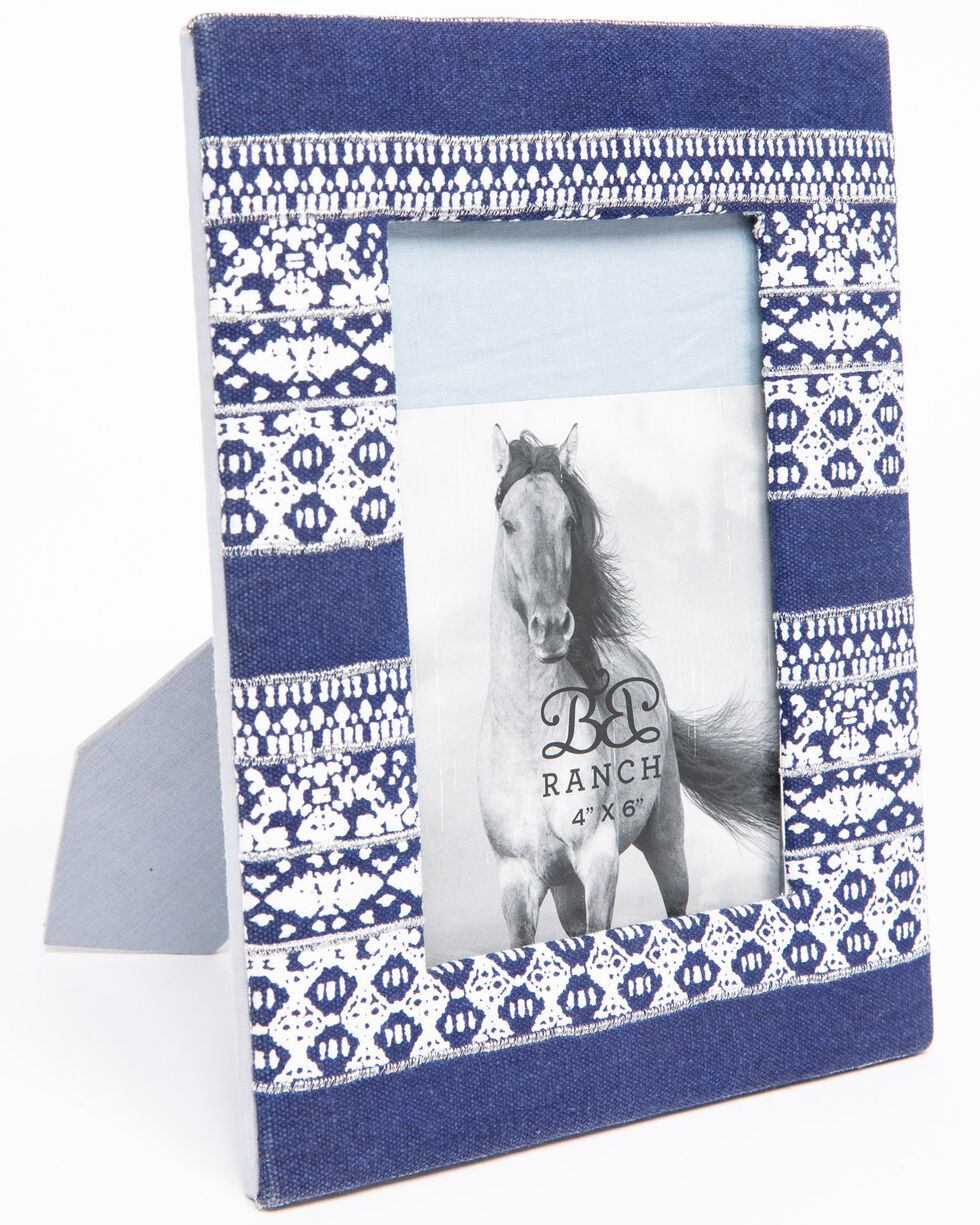 BB Ranch Indigo Picture Frame, Blue, hi-res
