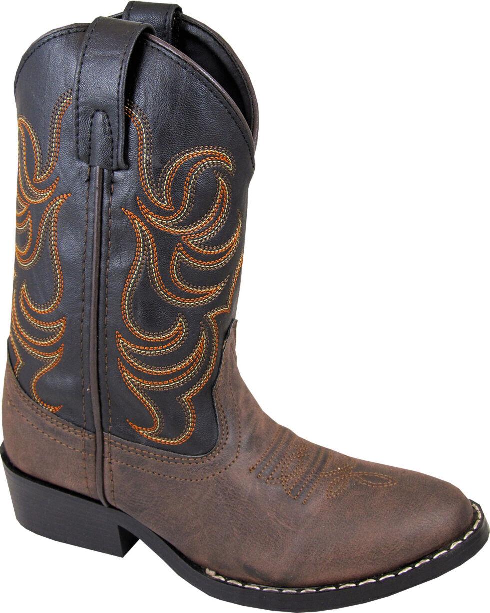 Smoky Mountain Toddler Boys' Monterey Western Boots - Round Toe, Brown, hi-res