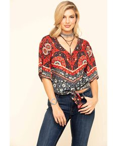 Idyllwind Women's Breezy Days Top, Navy, hi-res