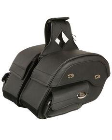 Milwaukee Leather Cruiser Style Motorcyle Saddle Bag , Black, hi-res