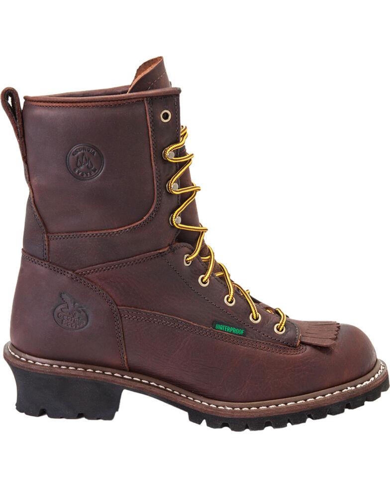 Georgia Men's Steel Toe Waterproof Logger Boots, Chocolate, hi-res