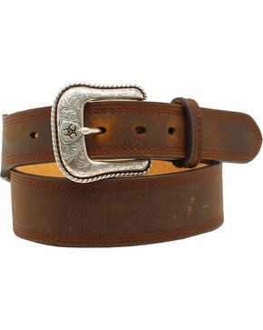 Ariat Basic Leather Belt, Distressed, hi-res