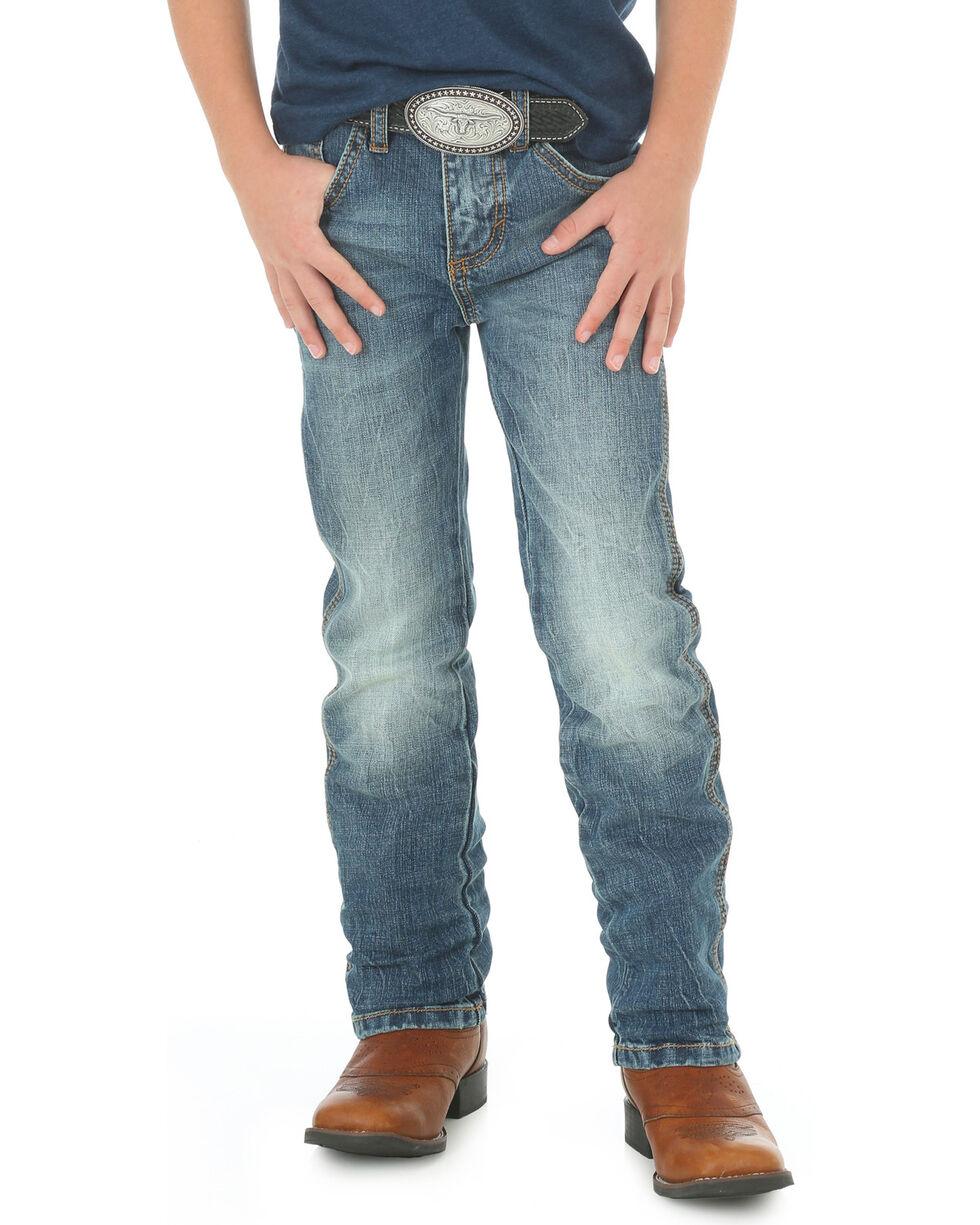 Wrangler Retro Boys' Hayward Medium Wash Jeans - Straight Leg, Indigo, hi-res