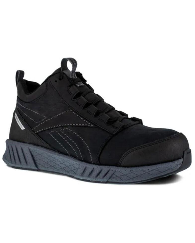 Reebok Men's Grey Fusion Formidable Work Shoes - Composite Toe, Black, hi-res