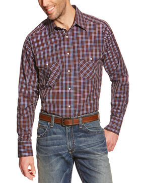 Ariat Men's Raywood Printed Long Sleeve Shirt, Brown, hi-res