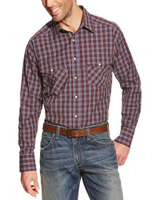 Ariat Pro Series Raywood Plaid Classic Fit Western Shirt , Brown, hi-res