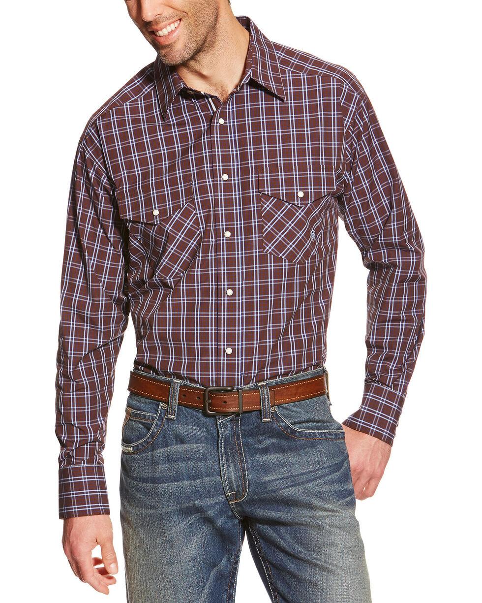 Ariat Men's Raywood Printed Long Sleeve Shirt, Brown, hi-res