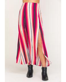 Rock & Roll Cowgirl Women's Pink Serape Print Skirt , Pink, hi-res