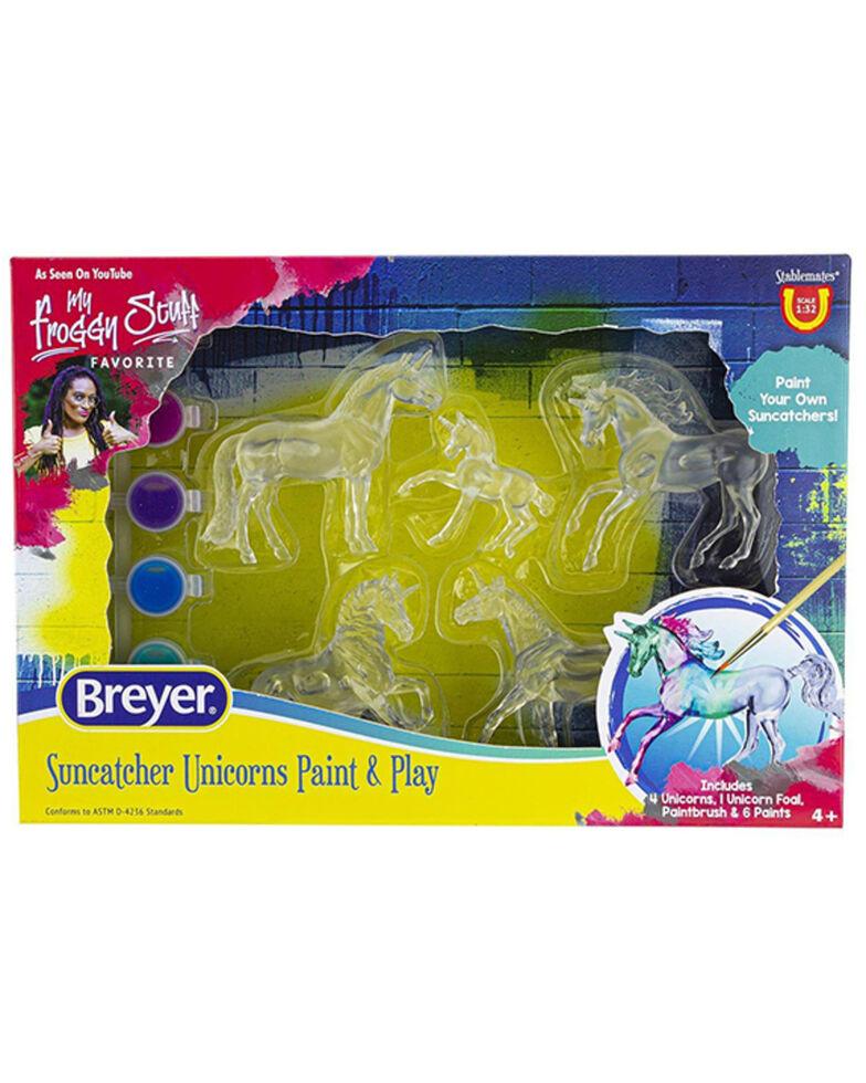 Breyer Girls' Suncatcher Unicorns Paint & Play Set, No Color, hi-res