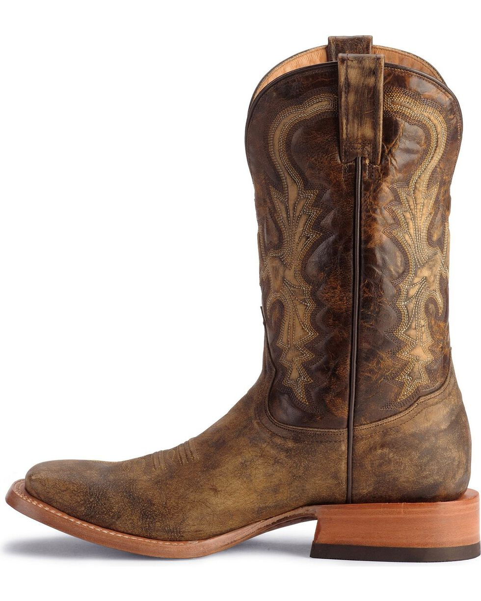 Stetson Men's Distressed Western Boots, Chocolate, hi-res