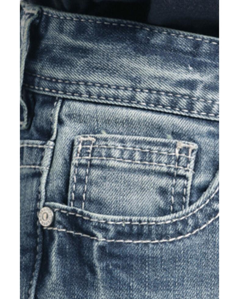 Rock & Roll Cowboy Boys' Small V Bean Stitch Revolver Straight Jeans , Blue, hi-res