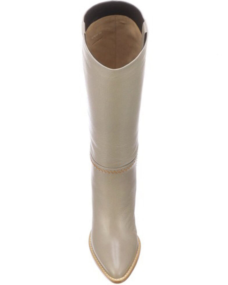 Lucchese Women's Pearl Tall Whipstitch Contemporary Boot - Pointed Toe, Ivory, hi-res