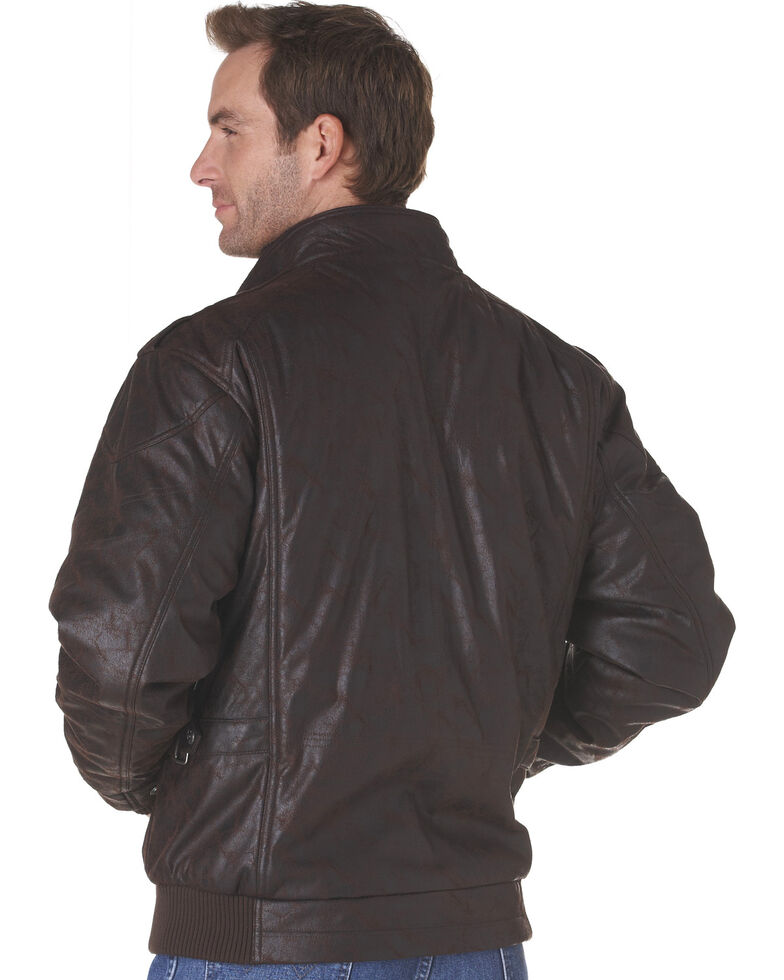 Cripple Creek Zip-Front PVC Jacket - Brown, Dark Brown, hi-res