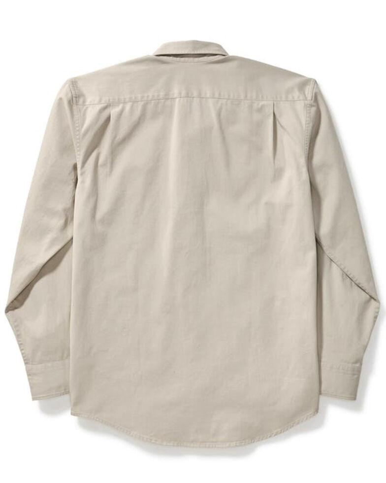 Filson Men's Light Gravel Solid Long Sleeve Chino Work Shirt , Light Grey, hi-res