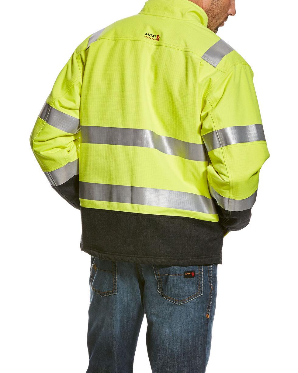 Ariat Men's Yellow FR HI-VIS Waterproof Jacket - Tall , Yellow, hi-res