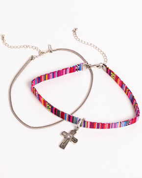 Shyanne Women's Guadalupe Cross Choker Set, Multi, hi-res