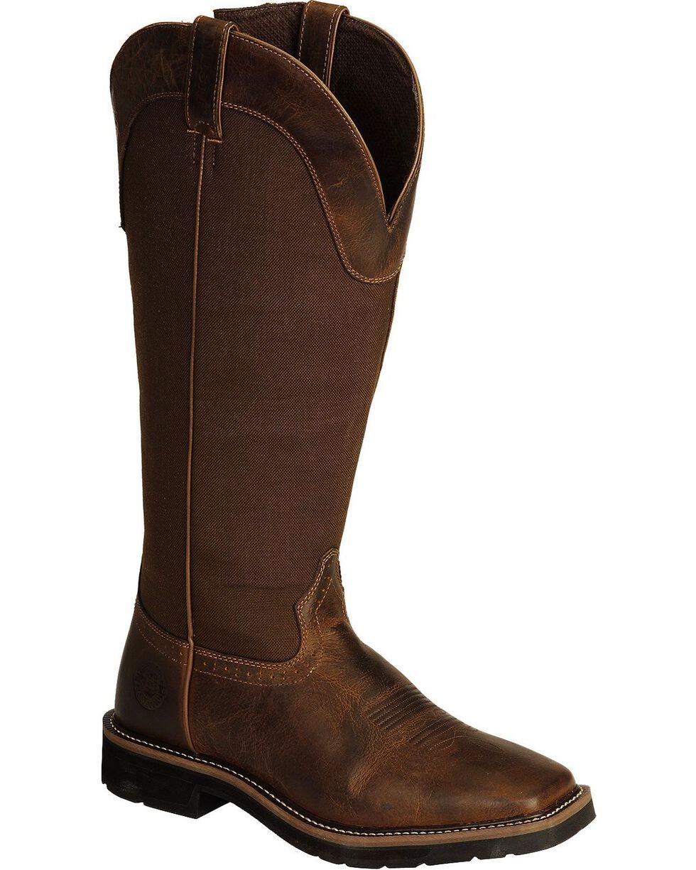 "Justin Men's Rugged 17"" Work Boots, Tan, hi-res"