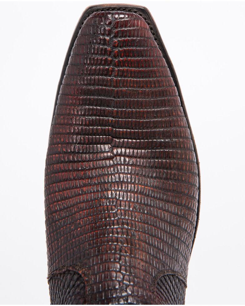 Lucchese Men's Handmade Miles Brown Lizard Western Boots - Snip Toe, Brown, hi-res