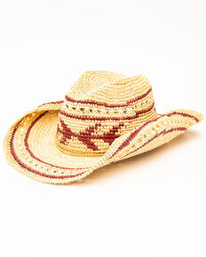 San Diego Hat Co. Men's Crochet Arrow Hat, Natural, hi-res