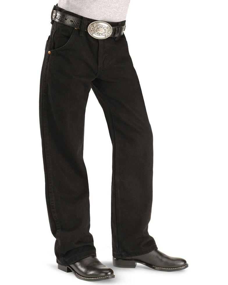 Wrangler Boys' ProRodeo Jeans Size 8-16, Black, hi-res