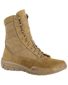 Rocky Men's C4R Tactical Military Boots - Soft Toe, Taupe, hi-res