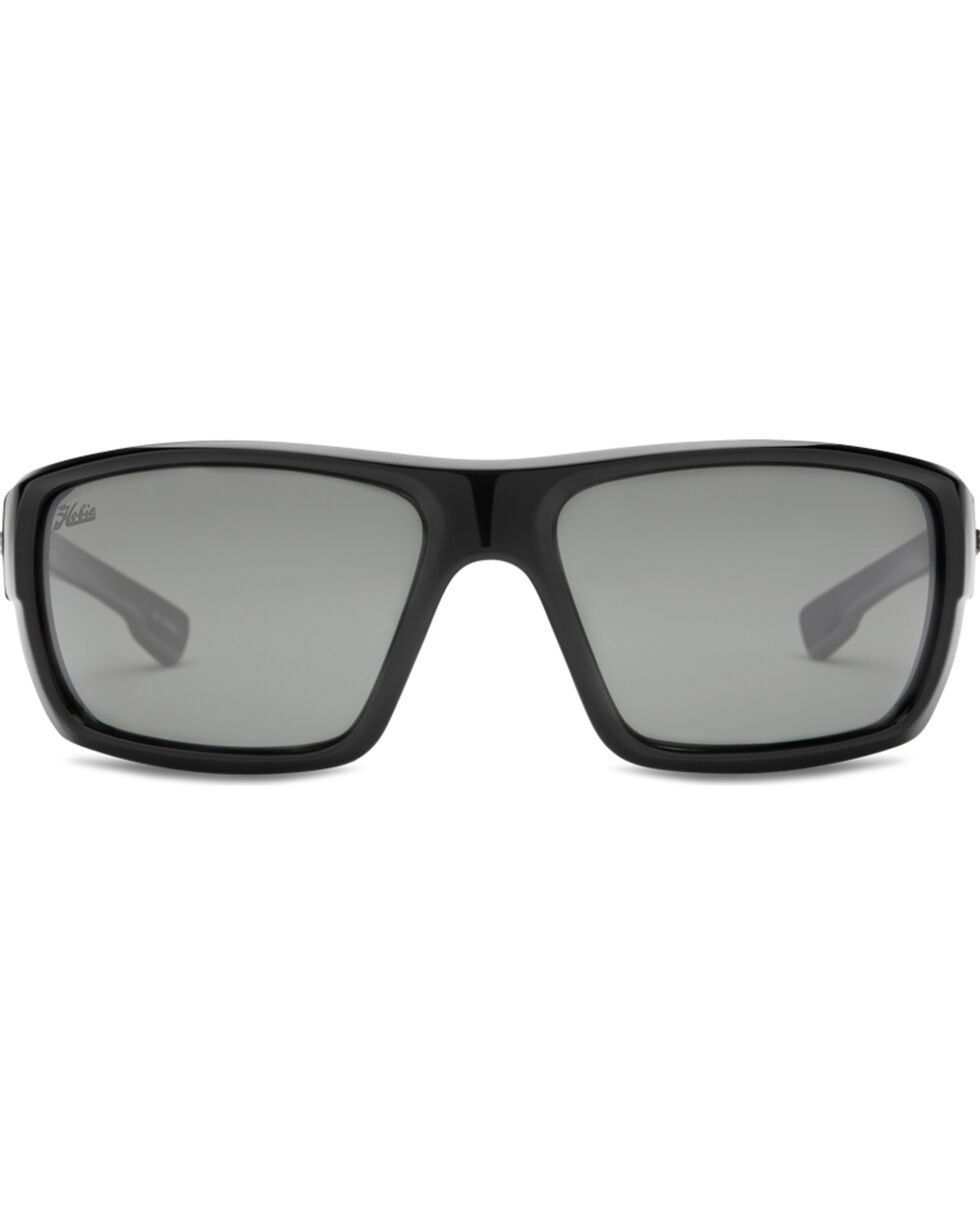 Hobie Men's Grey and Shiny Black Mojo Polarized Sunglasses , Black, hi-res