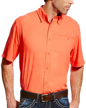 Ariat Men's Coral VentTEK II Shirt , Coral, hi-res
