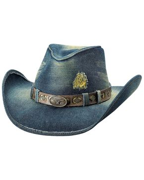Bullhide Women's Nonstop Straw Hat, Blue, hi-res