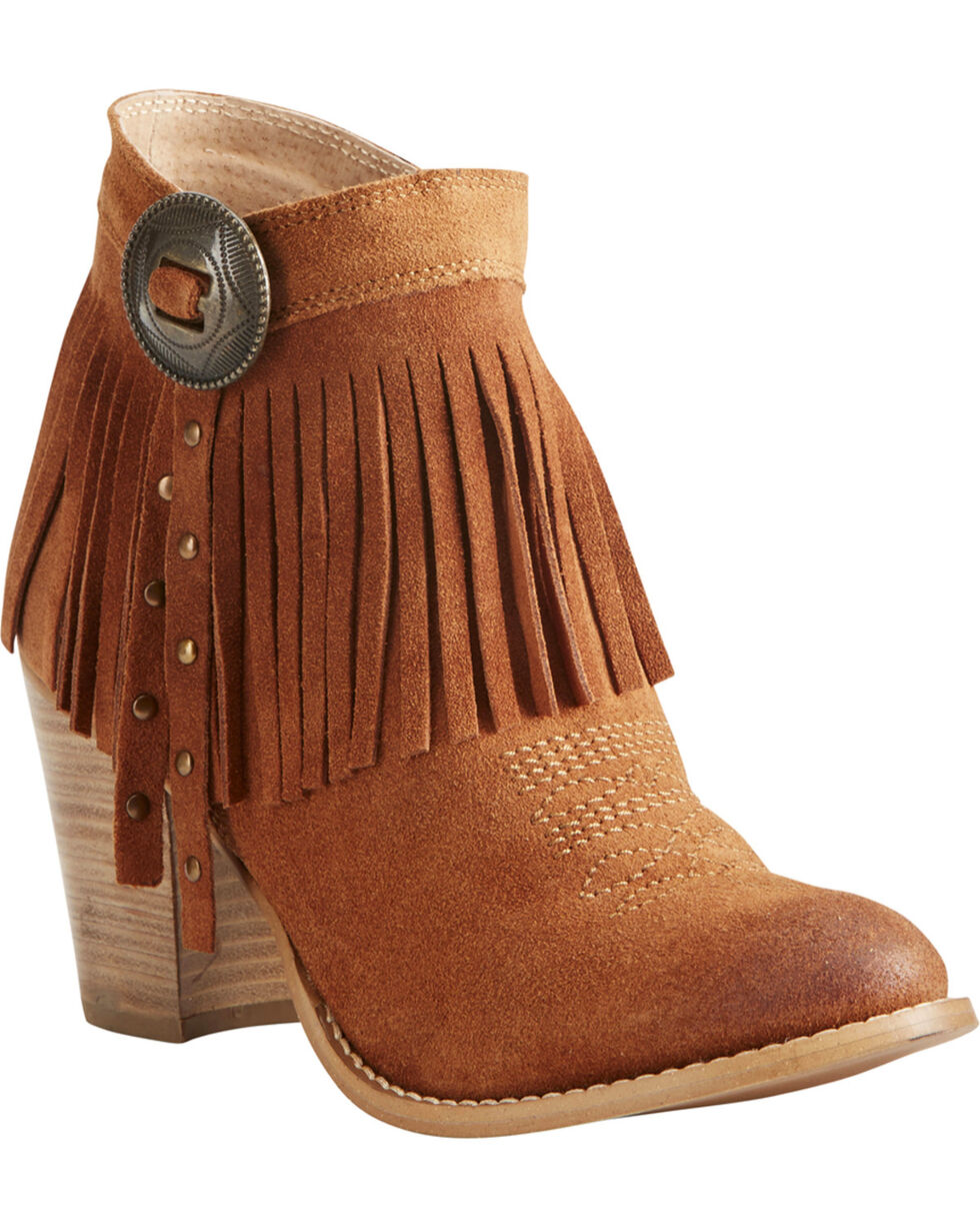 Ariat Women's Avery Booties, Suntan, hi-res